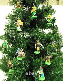 The Legend of Zelda Christmas Ornaments 12 Piece Set Featuring Link, Zelda Mini