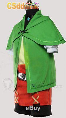 The Legend of Zelda Hyrule Warriors Linkle Female Link Cosplay Costume green