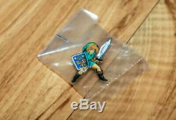 The Legend of Zelda Link Rare Promo Pin Nintendo SNES NES Vintage Collectible