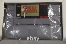 The Legend of Zelda Link to the Past Super Nintendo SNES CIB 100% Complete EX+