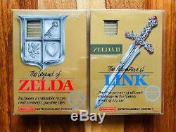 The Legend of Zelda NES + Links Adventure Nintendo CIB 1st PRINT EDITION GOLD 2