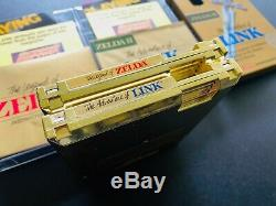 The Legend of Zelda NES + Links Adventure Nintendo CIB 1st PRINT Non-Rev A GOLD