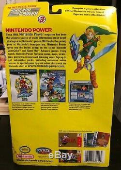 The Legend of Zelda Nintendo Power Presents LINK Figure ON CARD UNOPENED