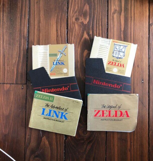 The Legend Of Zelda/the Adventure Of Link Nes Nintendo Gold Cartridges -untested