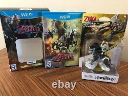 The Legend of Zelda Twilight Princess HD Wii U Complete Bundle Wolf Link Amiibo