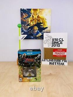 The Legend of Zelda Twilight Princess HD + Wold Link Amiibo Nintendo Wii U NEW