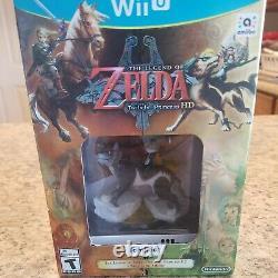 The Legend of Zelda Twilight Princess HD + Wolf Link Amiibo Wii U NEW