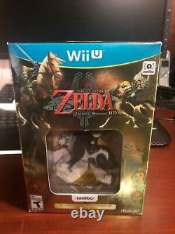 The Legend of Zelda Twilight Princess HD with Wolf Link Amiibo NEW Nintendo Wii U