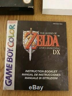 The legend of Zelda Link's awakening DX boxed Nintendo gameboy color