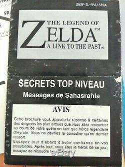The legend of zelda a link to the past SNES PAL FR