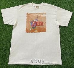 VTG 1998 N64 The Legend of Zelda Ocarina of Time Link Promo T-Shirt Nintendo 90s