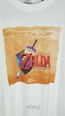 VTG 1998 N64 The Legend of Zelda Ocarina of Time Link Promo T-Shirt Nintendo XL