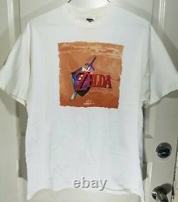 VTG 1998 Nintendo N64 The Legend of Zelda Ocarina of Time Link Promo Tee T-Shirt