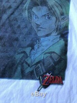 VTG 90s The Legend Of Zelda Ocarina Of Time shirt XL Link Nintendo N64 Promo