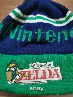 Vintage 1989 Nintendo The Legend Of Zelda Beanie DHL vtg