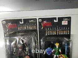Vintage 1998 2 Legend of Zelda Ocarina of Time GANON & LINK action FIGURES. Rare