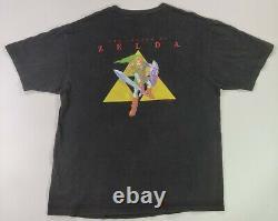 Vintage 1998 The Legend Of Zelda N64 Video Game Promo Black Shirt Size XL