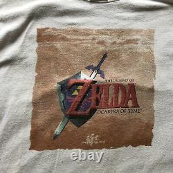 Vintage N64 The Legend of Zelda Ocarina of Time 98 Link Promo TShirt Nintendo XL