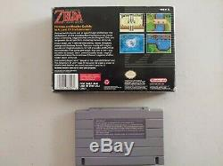 Vintage The Legend of Zelda A Link To The Past SNES CIB Complete Map Manual Box