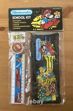 Vtg NOS 1988 Nintendo School Kit Super Mario Legend of Zelda Link Ruler RARE