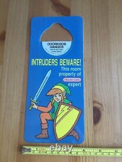 Vtg RARE 1989 The Legend of Zelda II LINK Doorknob Hanger Nintendo Expert 80s