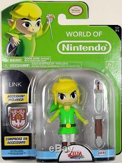 World of Nintendo LINK (WIND WAKER) Action Figure Legend of Zelda