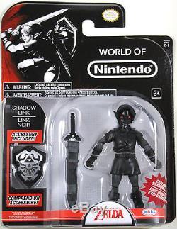 World of Nintendo SHADOW LINK ACTION FIGURE The Legend of Zelda Jakks