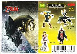 Yujin The Legend of ZELDA Twilight Princess Link game toy Gashapon Figure Set 4